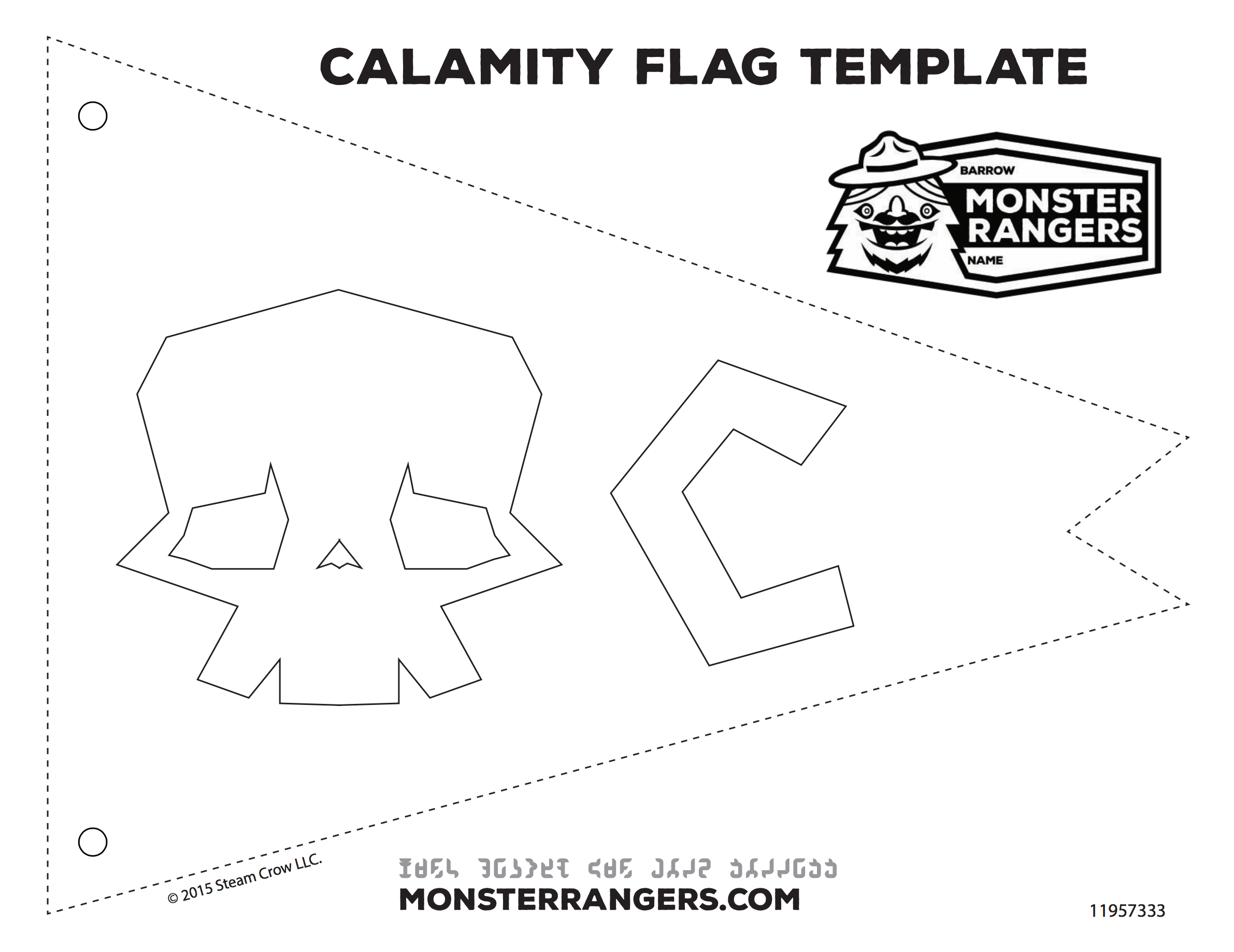 Calamity Flag Graphic