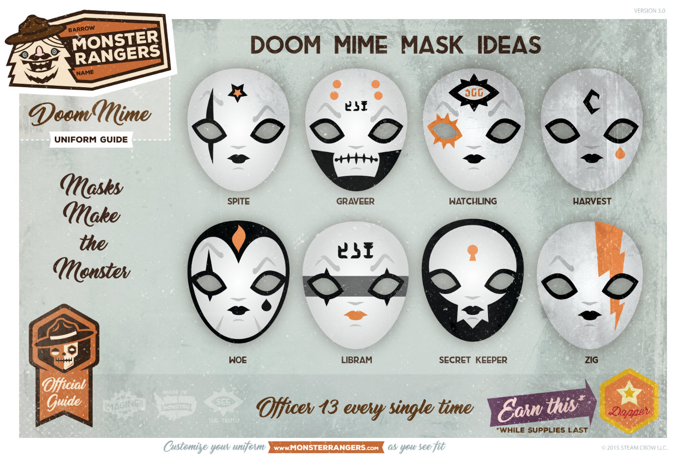 Doom Mimes Mask Variations