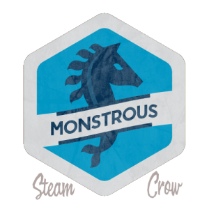 Monstrous Day Badge