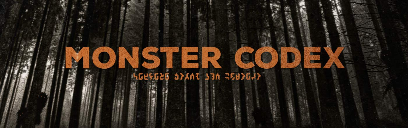 monster codex header