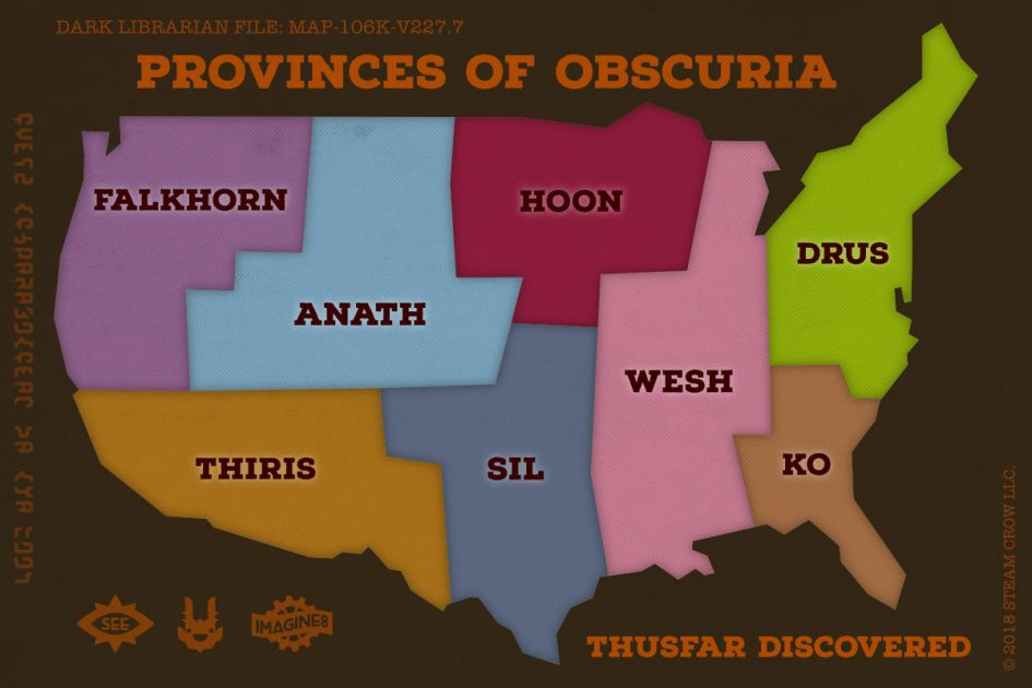 Map of the 8 Provinces of Obscuria