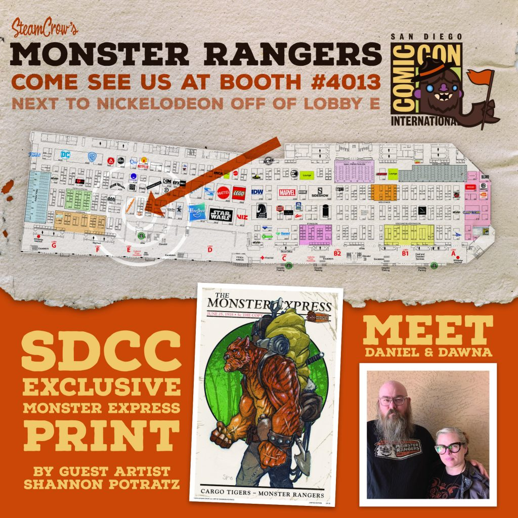 Steam Crow Monster Rangers at SDCC