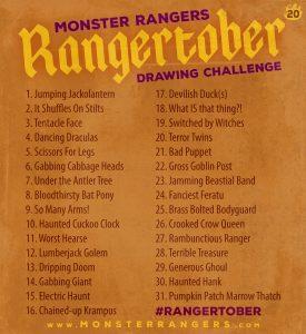 Rangertober 2020 Art challenge
