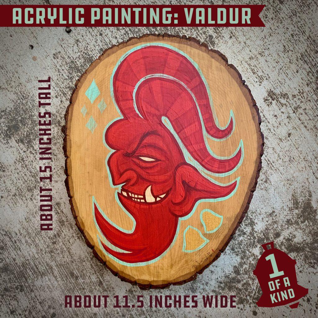 Valdur Krampus Painting