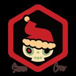 Badge Xmas Skull